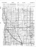 Clay County Highway Map, Clay County 1964