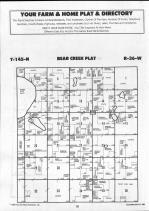 Bear Creek T145N-R36W, Clearwater County 1990 Published by Farm and Home Publishers, LTD
