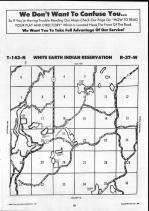 White Earth Indian Reservation T143N-R37W, Clearwater County 1990 Published by Farm and Home Publishers, LTD