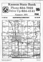 Dodge County Map 014, Dodge and Steele Counties 1990