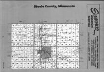 Steele County Index Map 1, Dodge and Steele Counties 1990