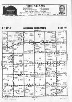 Steele County Map 009, Dodge and Steele Counties 1990