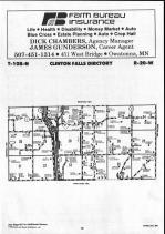Steele County Map 019, Dodge and Steele Counties 1990