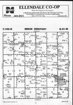 Steele County Map 023, Dodge and Steele Counties 1990