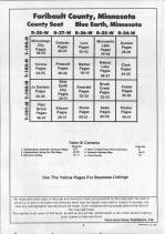 Table of Contents, Faribault County 1990