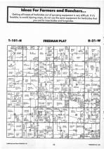 Freeman T101N-R21W, Freeborn County 1987 Published by Farm and Home Publishers, LTD