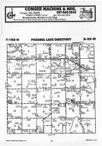 Pickerel Lake T102N-R22W, Freeborn County 1987 Published by Farm and Home Publishers, LTD