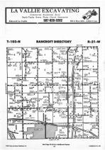 Bancroft T103N-R21W, Freeborn County 1987 Published by Farm and Home Publishers, LTD