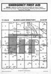 Elbow Lake T129N-R43W, Grant County 1985 Published by Farm and Home Publishers, LTD