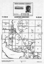 Lakeport T143N-R32W, Hubbard County 1988 Published by Farm and Home Publishers, LTD