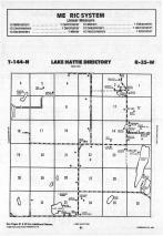 Lake Hattie T144N-R35W, Hubbard County 1988 Published by Farm and Home Publishers, LTD