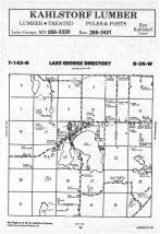 Lake George T143N-R34W, Hubbard County 1988 Published by Farm and Home Publishers, LTD