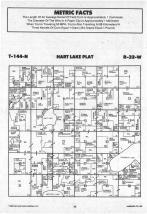 Hart Lake T144N-R32W, Hubbard County 1988 Published by Farm and Home Publishers, LTD