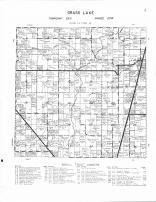 Grass Lake Township, Rice Creek, Grasston, Snake River, Kanabec County 1961 Published by Thomas O. Nelson Co