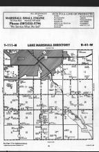 Lake Marshall T111N-R41W, Lyon County 1989