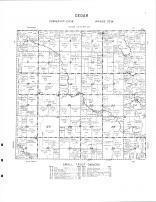 Cedar Township, Elm Creek, Cedar Run Creek, Martin County 1961