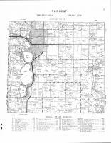 Fairmont Township, Budd Lake, Amber Lake, Hall Lake, Rose Lake, Sager Lake, Martin County 1961