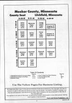 Table of Contents, Meeker County 1991
