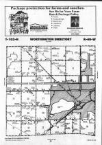 Map Image 001, Nobles County 1991
