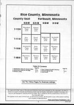 Table of Contents, Rice County 1991