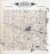 Albany Township, Sand Lake, Pine Lake, Stearns County 1896 published by C.M. Foote & Co