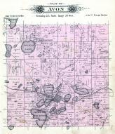Avon Township, Pelican Lake, Kepper Lake, Two Rivers Lake, Stearns County 1896 published by C.M. Foote & Co