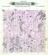 Collegeville Township, big fish Lake, Island Lake, Pitts Lake, Stearns County 1896 published by C.M. Foote & Co