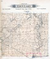 Eden Lake Township, Rice Lake, Long Lake, Eden Valley, Stearns County 1896 published by C.M. Foote & Co
