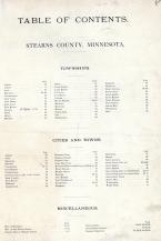 Index, Stearns County 1896 published by C.M. Foote & Co