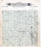 Lake George Township, Crow river, Stearns County 1896 published by C.M. Foote & Co