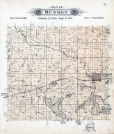 Munson Township, Richmond, Torah P.O., Horse Shoe Lake, Cedar Island, Stearns County 1896 published by C.M. Foote & Co