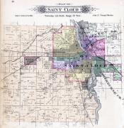 Saint Cloud, Waite Park, Sauk Rapids, Stearns County 1896 published by C.M. Foote & Co