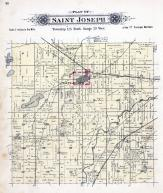 Saint Joseph Township, Kraemer Lake, Sauk River, Stearns County 1896 published by C.M. Foote & Co