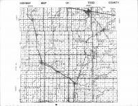 Todd County Highway Map, Todd County 1956 Published by Thomas O. Nelson Co