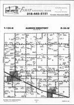 Aldrich T134N-R34W, Wadena County 1990 Published By Farm and Home Publishers, LTD