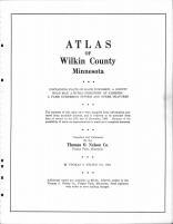 Title Page, Wilkin County 1963