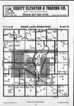 Wood Lake T114N-R39W, Yellow Medicine County 1984 Published by Farm and Home Publishers, LTD