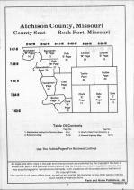 Atchinson County Table of Contents, Atchison and Holt Counties 1990