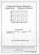 Table of Contents, Caldwell County 1990
