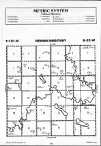 Sargent County Map Image 033, Ransom and Sargent Counties 1991