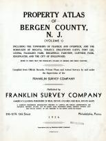 Title Page, Bergen County 1936 Vol 1