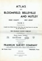 Essex County 1932 - Bloomfield, Belleville and Nutley