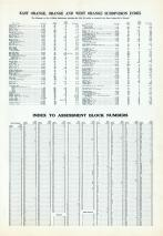 Index - Sub - Division, Block Numbers, Essex County 1932 - East Orange - West Orange