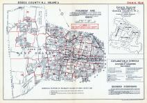 Index Map 1, Essex County 1932 - East Orange - West Orange