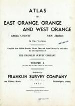 Title Page, Essex County 1932 - East Orange - West Orange