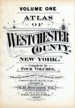 Title Page, Westchester County 1929 Vol 1