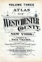 Title Page, Westchester County 1931 Vol 3