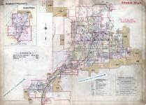 Index Map, Akron 1915 Revised 1919 Including Barberton - Cuyahoga Falls - Kenmore