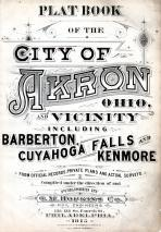 Title Page, Akron 1915 Revised 1919 Including Barberton - Cuyahoga Falls - Kenmore