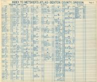 Index - Donation Land Claims, Places, Plats, Schools, Benton County 1962